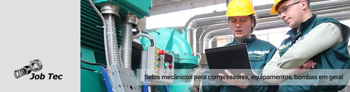 Selos mecânicos para compressores industriais, equipamentos em geral